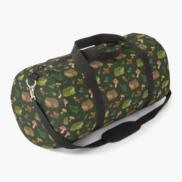 frogs & berries - green Duffle Bag