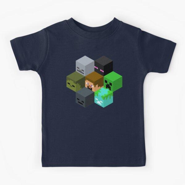 Minecraft Heads Honeycomb - Cool Minecraft Kids T-Shirt