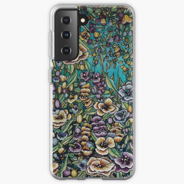 Night Garden Illustration Samsung Galaxy Soft Case