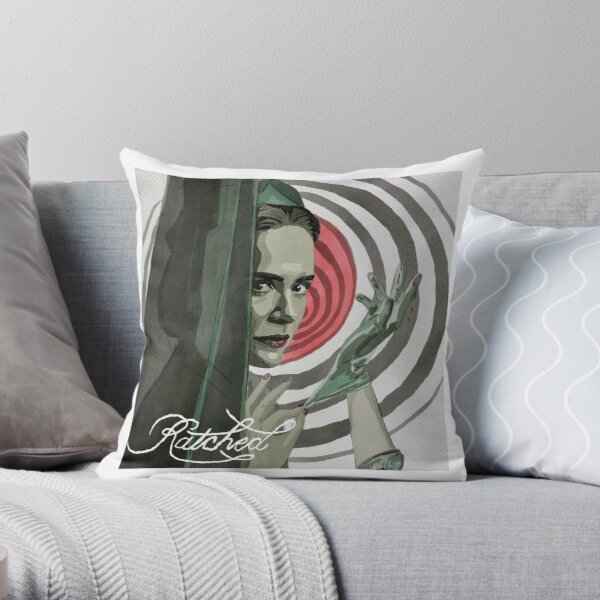 Sarah Paulson Ratched Drawing Throw Pillow