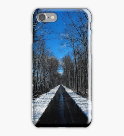 Something blowing in my head..Winds of ice that soon will spread..Down to freeze my very soul..Makes me happy, makes me cold..The snowflakes glisten on the trees..Snowblind iPhone Case/Skin