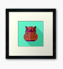 Hippopotamus Framed Print