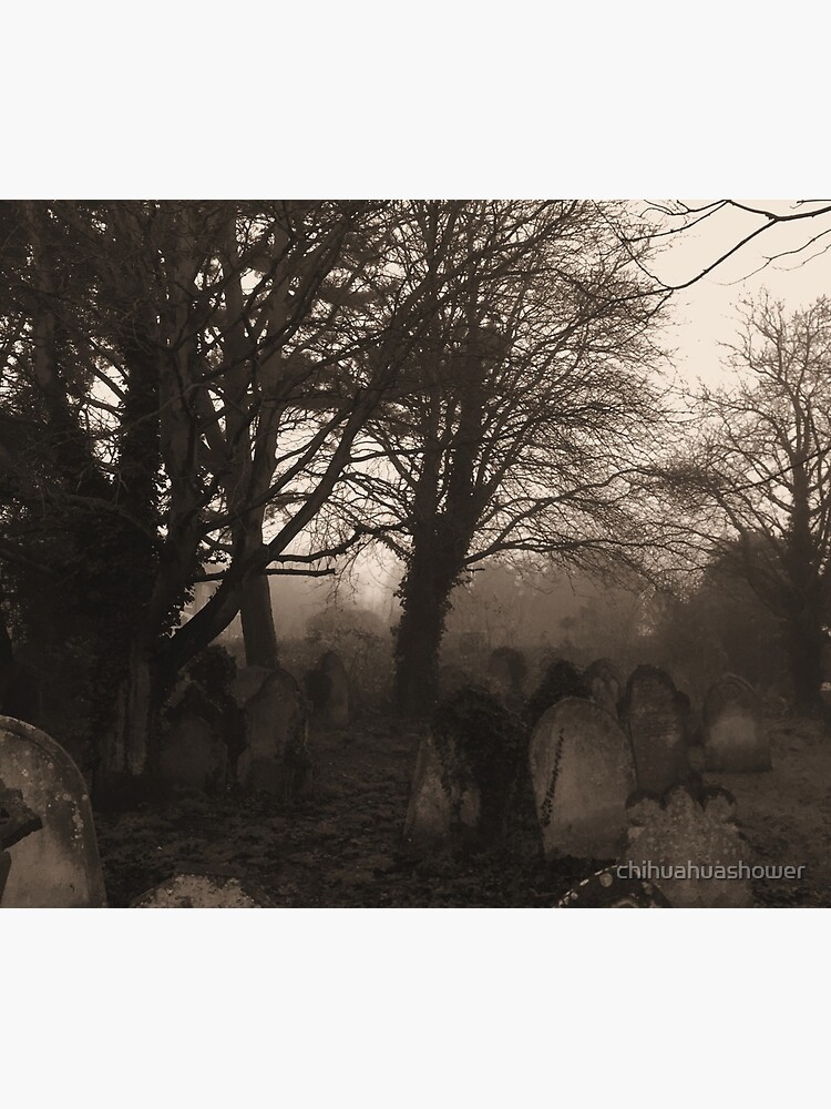 Sepia graveyard by chihuahuashower