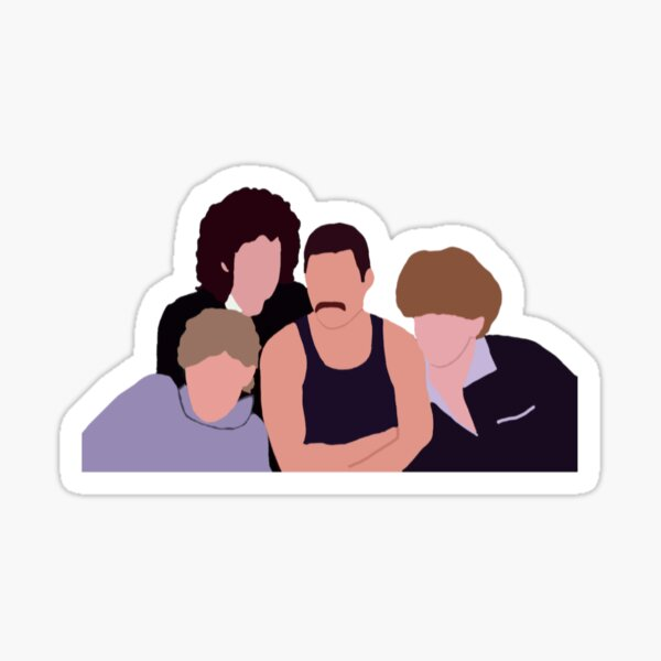 Queen band drawing Sticker