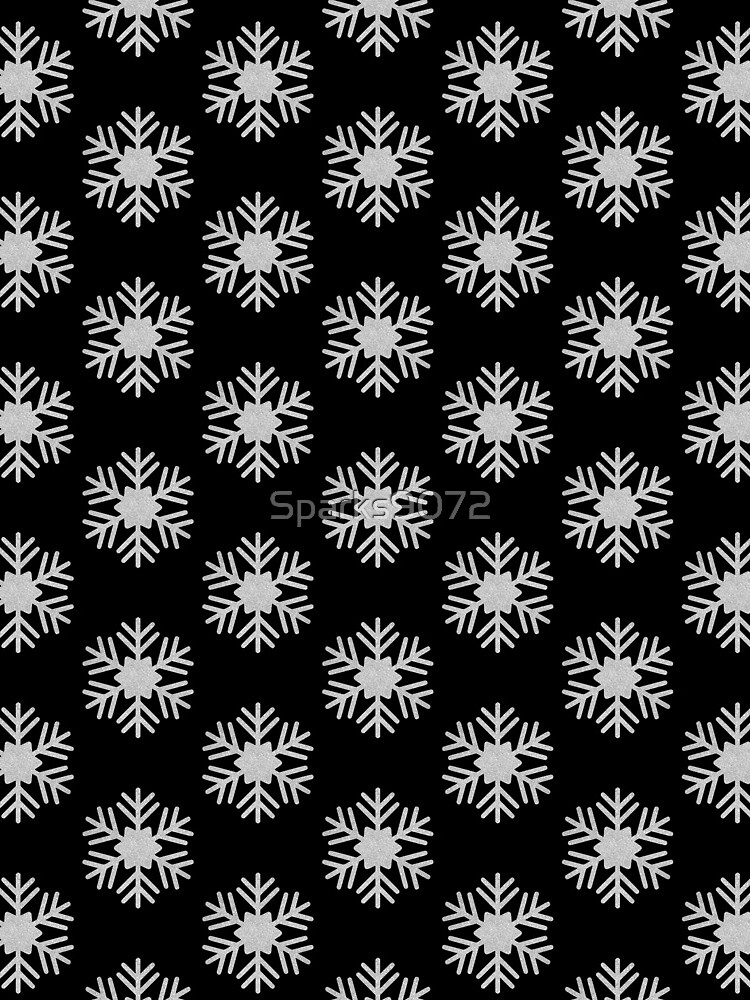 Silver Glitter Snowflake by Sparks9072