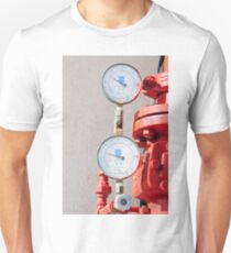 Water pressure gauge on a fire suppression system Unisex T-Shirt