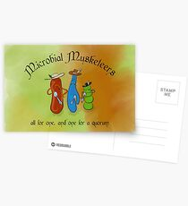 Microbial Musketeers Postcards