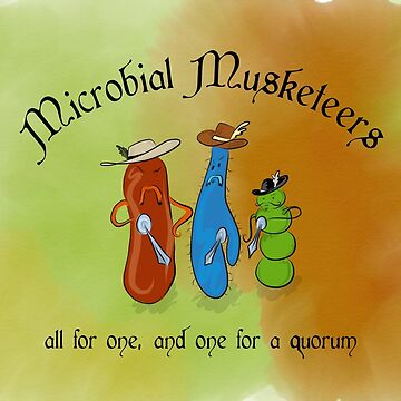 Microbial Musketeers by thevexedmuddler