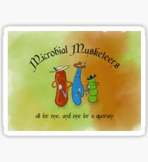 Microbial Musketeers Sticker