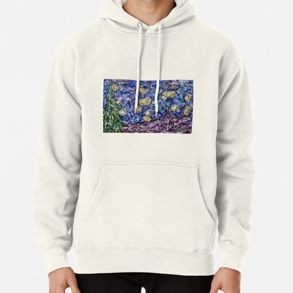 A Starry Evening in 2016 (figurative departure) Pullover Hoodie