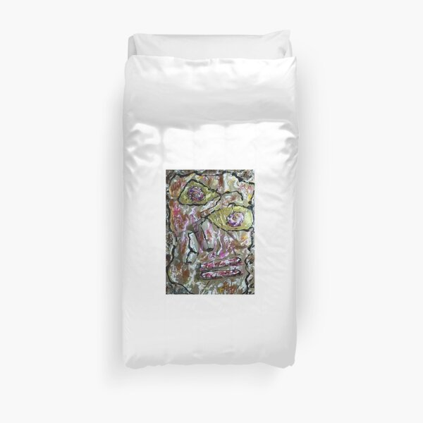 Homage to Dubuffet's Homage to Klee's Senecio (if it existed)  Duvet Cover