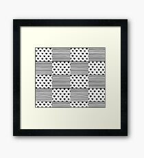 Patchwork hearts and stripes painted Framed Print