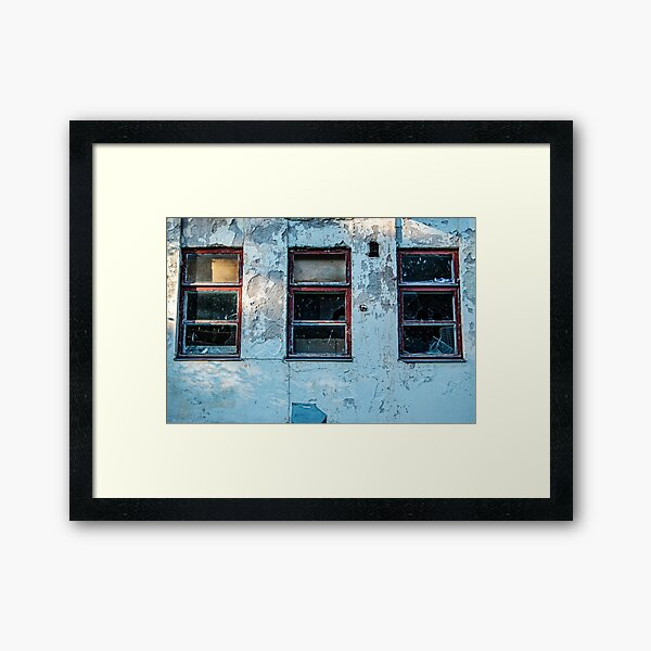Smashed Windows Framed Art Print