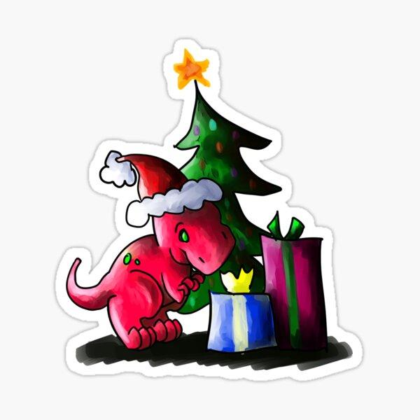 Its a Dinosaur Christmas Sticker