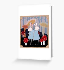 the Rabbits Forest Greeting Card