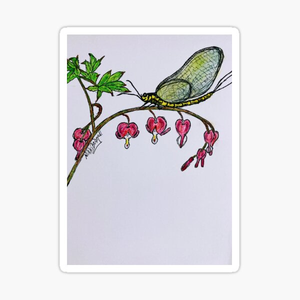 Mayfly Bleeding Hearts Sticker