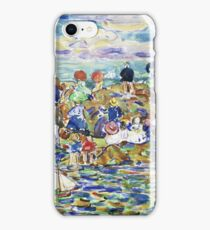 Maurice Brazil Prendergast , IDLERS ON THE BEACH iPhone Case/Skin