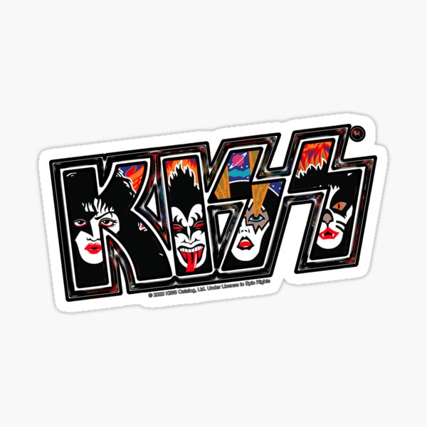 KISS ® rock music band - Rock and Roll Over Style 3 Sticker