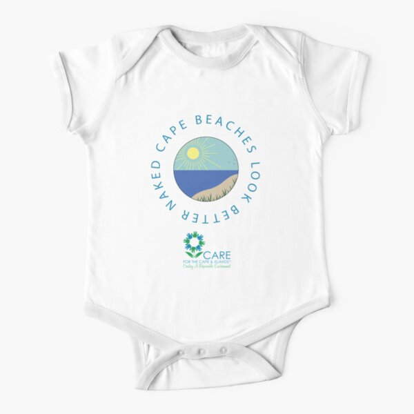 Cape Beaches Look Better Naked T-Shirt Short Sleeve Baby One-Piece