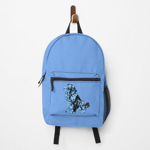 Newfoundland Dog Blue Black Backpack