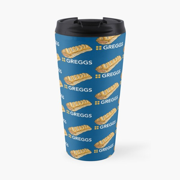 GREGGS logo with Sausage Roll Travel Mug