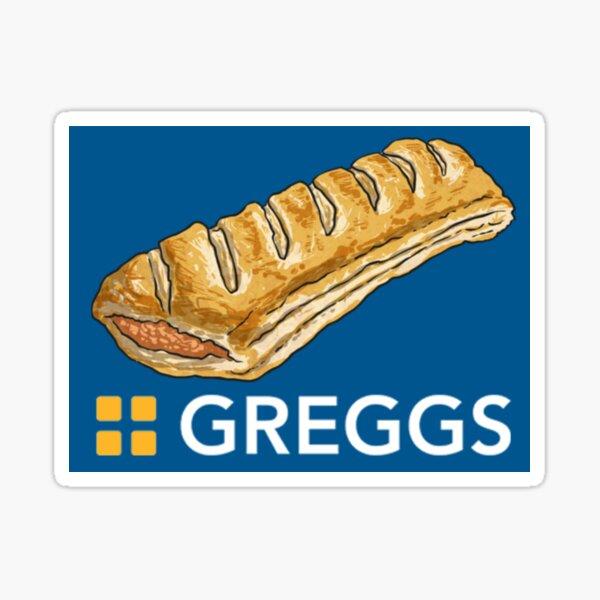 GREGGS logo with Sausage Roll Sticker