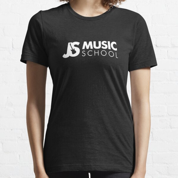 JS Music School White Logo Essential T-Shirt