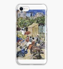 MAURICE BRAZIL PRENDERGAST, PAINTING OF A BEACH SCENE iPhone Case/Skin