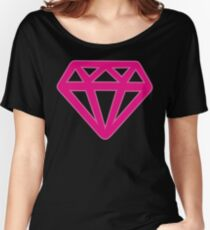 Pink Kitsch Diamond Women's Relaxed Fit T-Shirt
