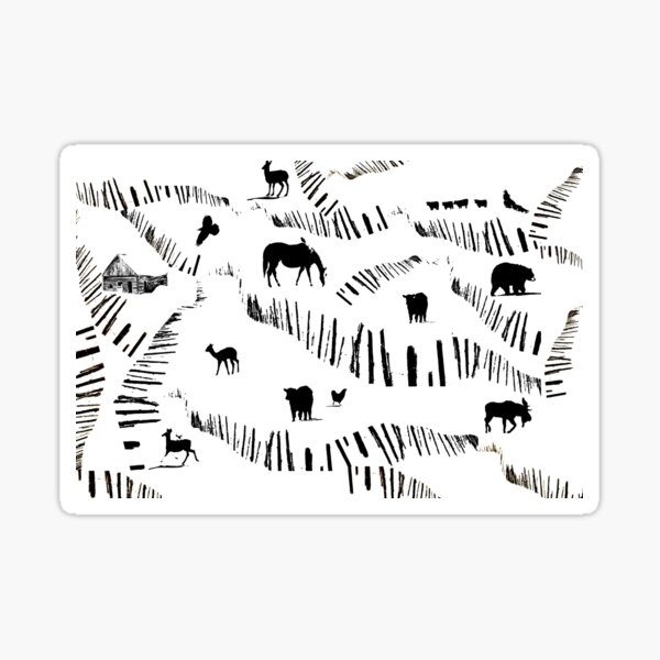 Ranching Country Sticker