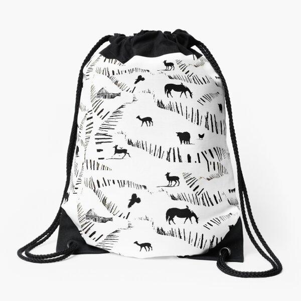 Ranching Country Drawstring Bag