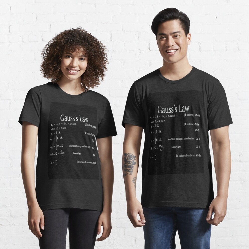 Copy of #Gauss's #Law, #GaussLaw, #Physics, Physics2, GeneralPhysics,  Essential T-Shirt