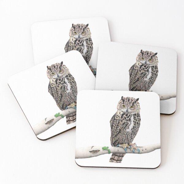 Eagle Owl Coasters (Set of 4)