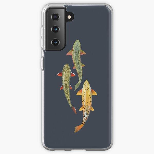 Three Trout Samsung Galaxy Soft Case