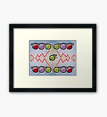 SPINNING TRACKS Framed Print