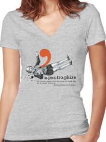 Shakespeare Murder Mystery Punctuation Puncture Women's Fitted V-Neck T-Shirt