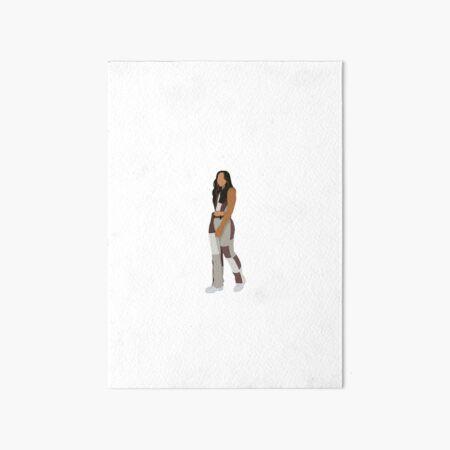 Sienna Mae Gomez tiktok sticker Art Board Print