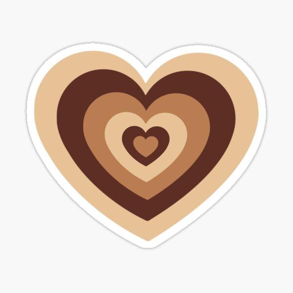 Brown Latte Heart  Sticker
