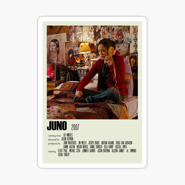 Juno Alternative Poster Art Movie Large (4) Sticker