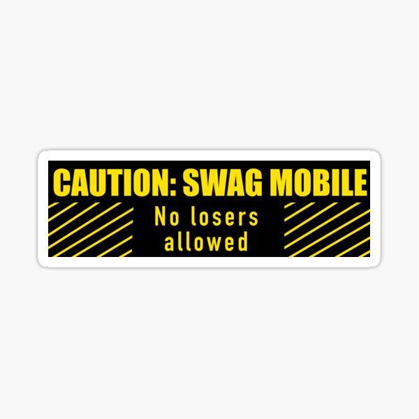 Swag Mobile bumper sticker Sticker