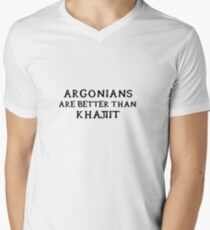 Argonians are better than Khajiit Men's V-Neck T-Shirt