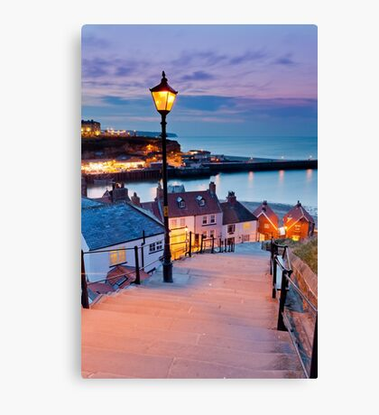 Whitby's 199 steps Canvas Print
