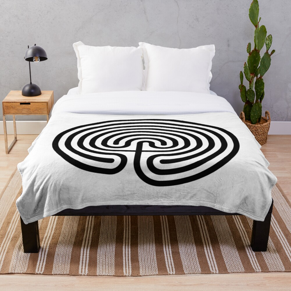 #Cretan, #labyrinth, Cretanlabyrinth Throw Blanket