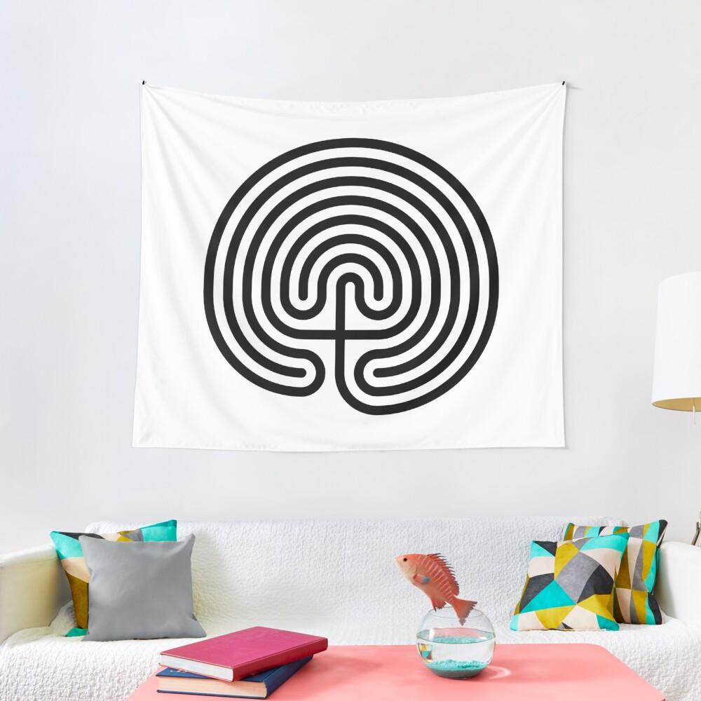 #Cretan, #labyrinth, Cretanlabyrinth Tapestry