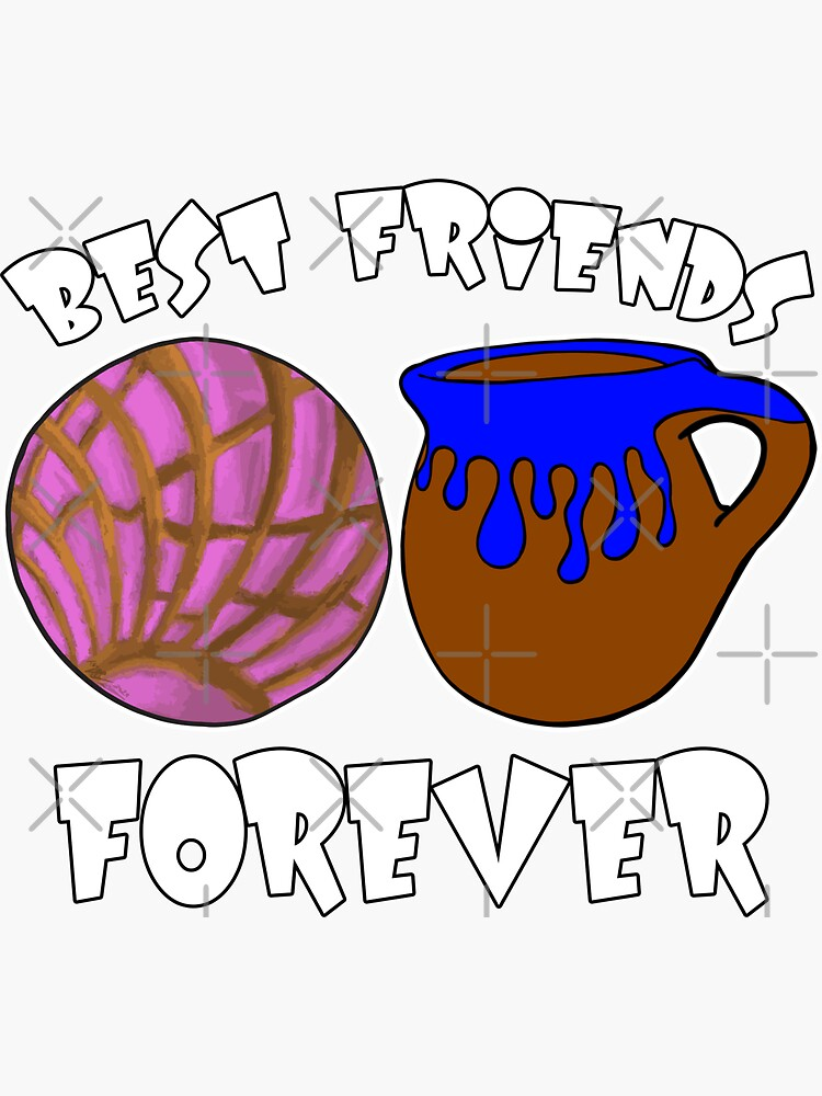Concha and Coffee Best Friends Forever by that5280lady