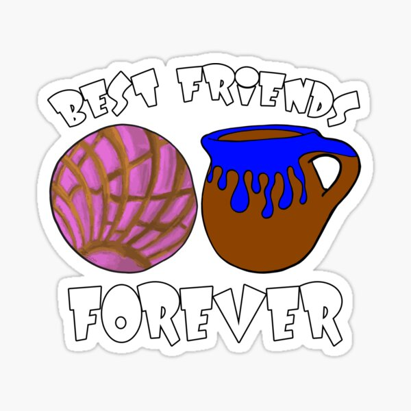 Concha and Coffee Best Friends Forever Glossy Sticker
