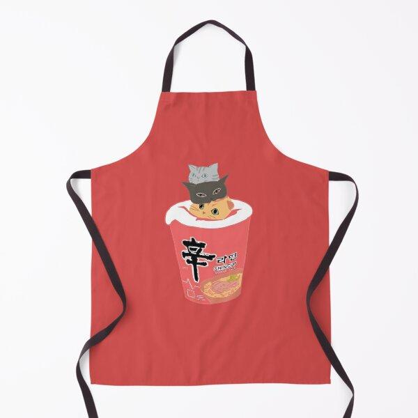 Coloured Cup Noodles w/ Cats Apron