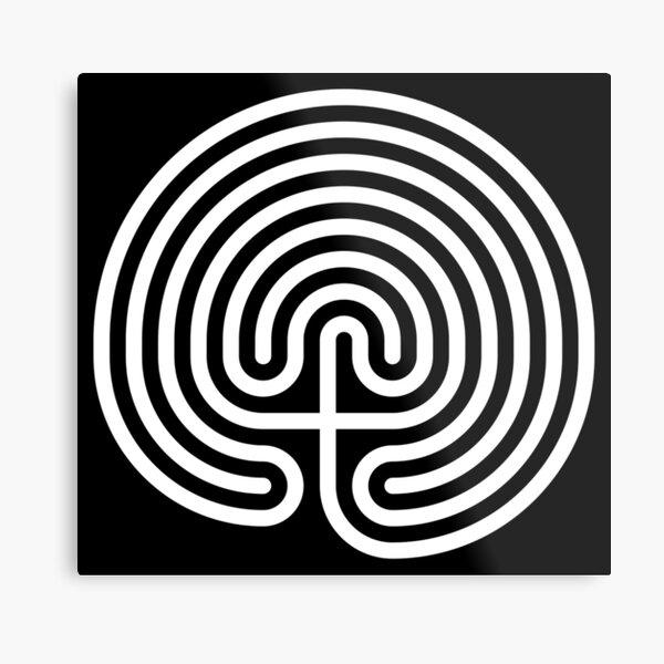 #Cretan, #labyrinth, Cretanlabyrinth Metal Print