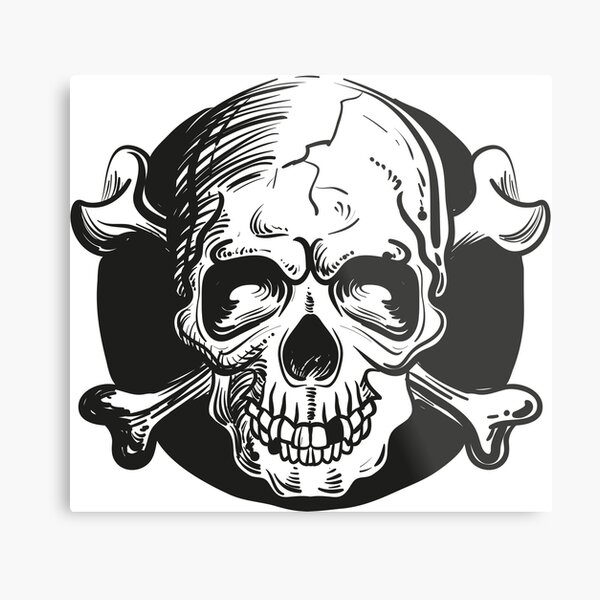 Skull illustration Metal Print