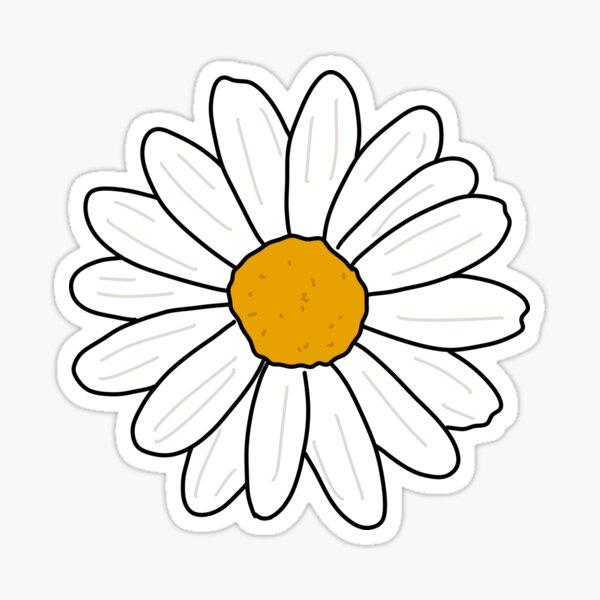 daisy | millennial pink background Sticker
